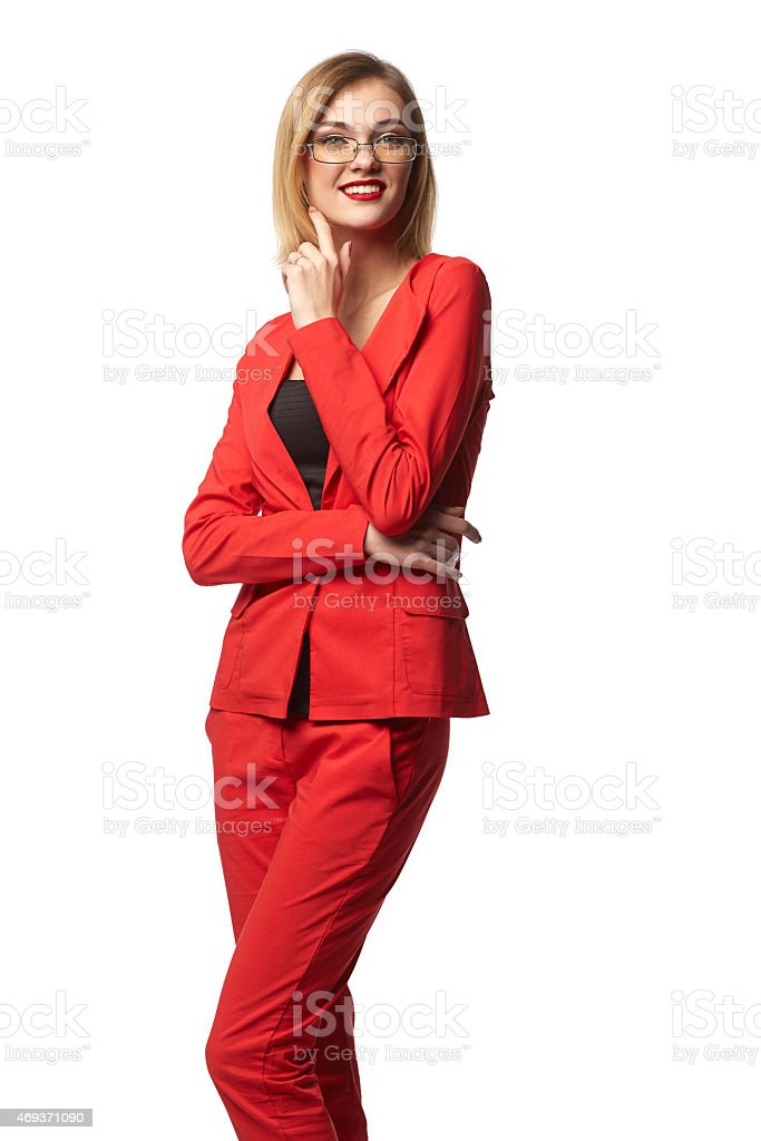 Beautiful smiling business woman royalty-free stock photo