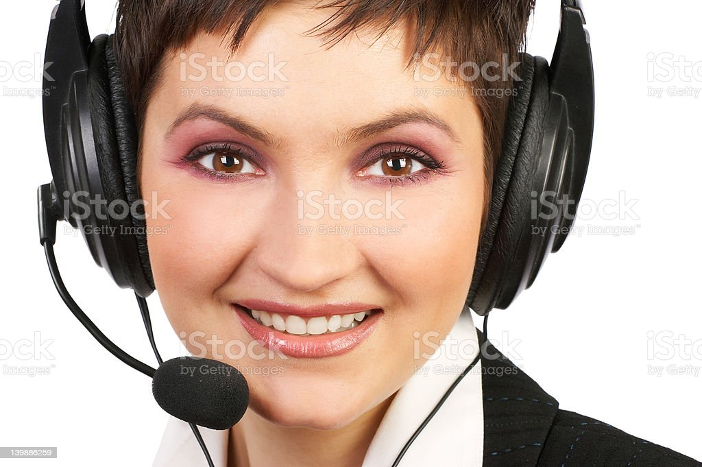 Beautiful Smiling Customer Service royalty-free stock photo