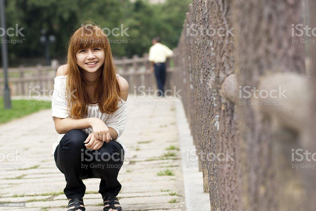 Beautiful smiling girl royalty-free stock photo