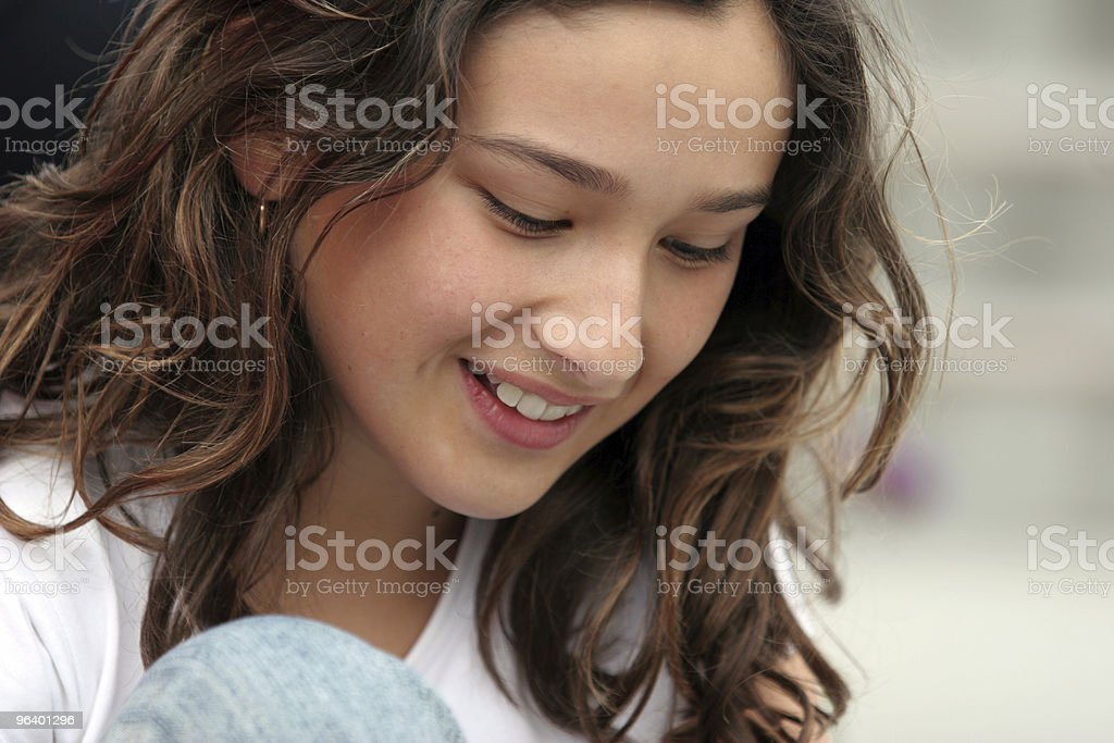 Beautiful smiling girl royalty-free stock photo
