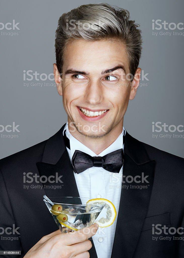 Beautiful smiling handsome man stock photo