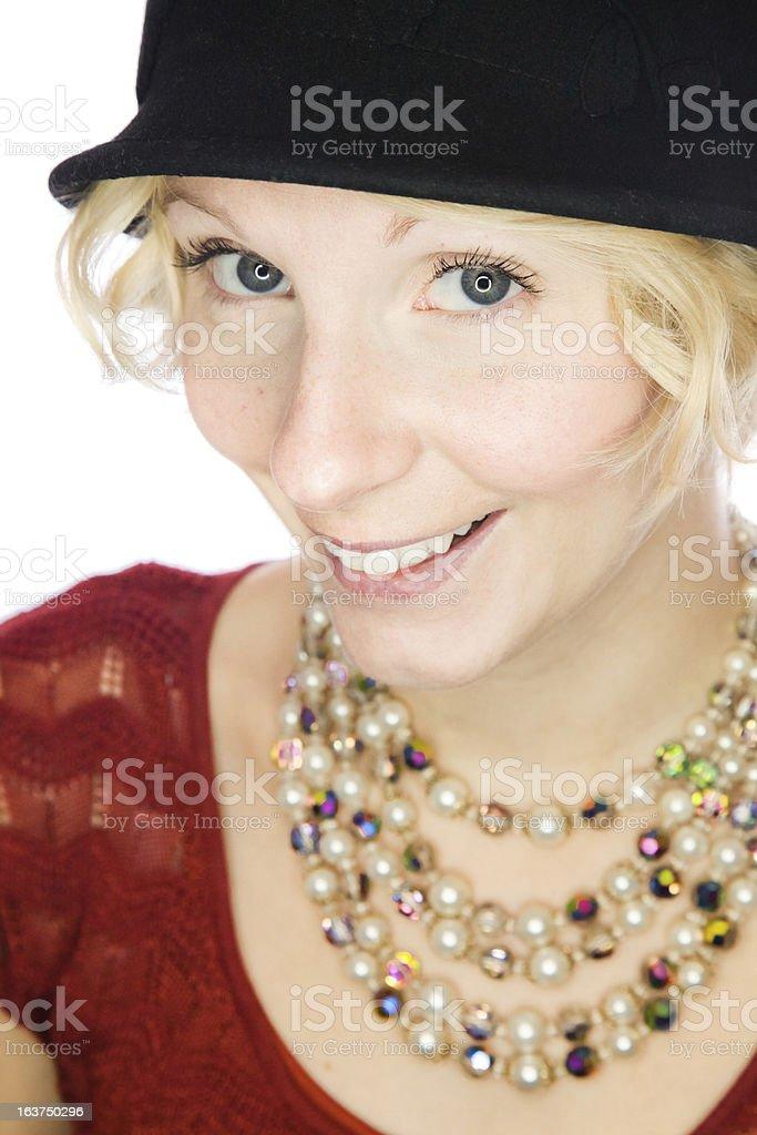 Beautiful smiling lady portrait royalty-free stock photo