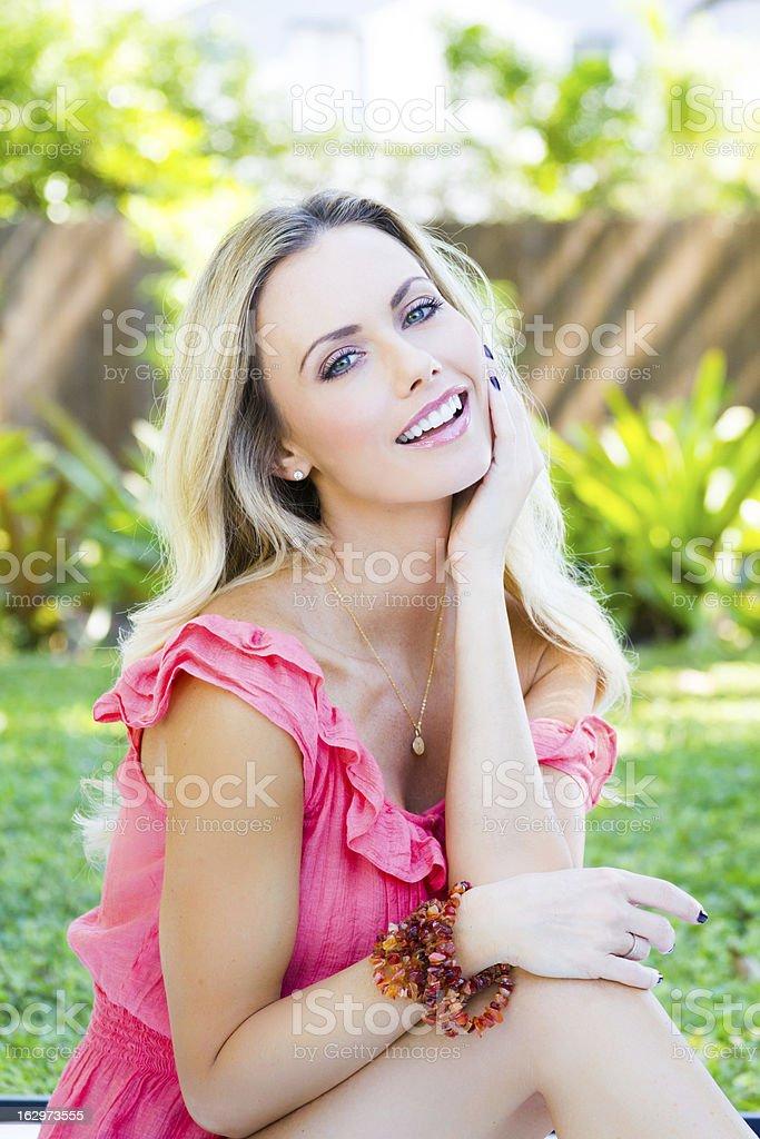 Beautiful smiling laughing woman royalty-free stock photo