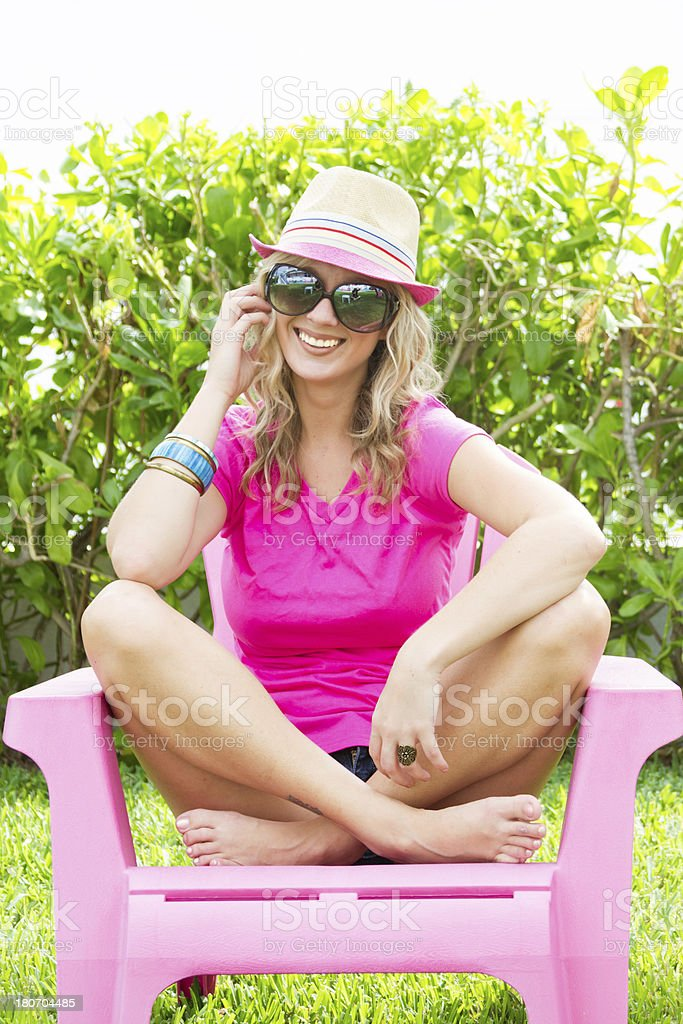 Beautiful smiling laughing young woman royalty-free stock photo