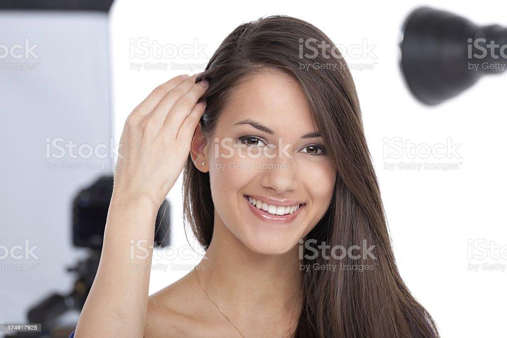 beautiful smiling model royalty-free stock photo