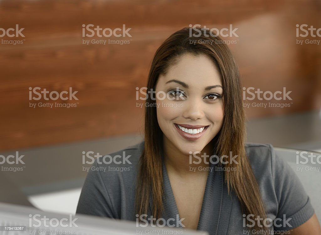 Beautiful Smiling Office Receptionist royalty-free stock photo