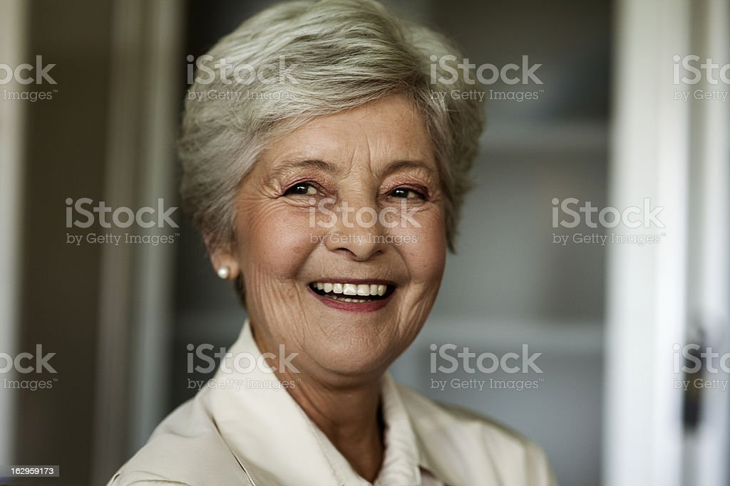 Beautiful Smiling Senior Woman royalty-free stock photo