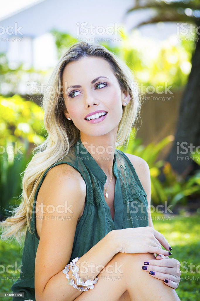 Beautiful smiling woman royalty-free stock photo