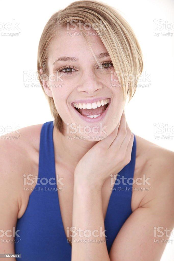 Hermoso Retrato de mujer sonriente foto de stock libre de derechos