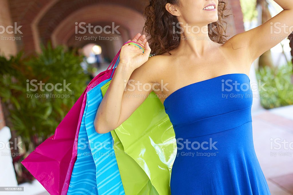 Beautiful Smiling Woman With Shopping Bags royalty-free stock photo