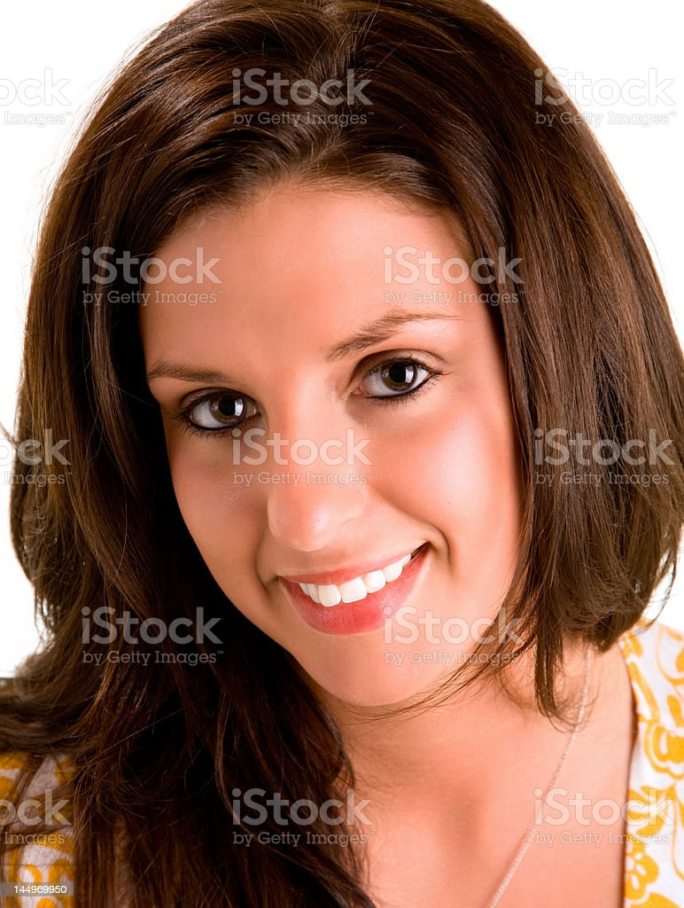 Beautiful Smiling Young Brunette royalty-free stock photo