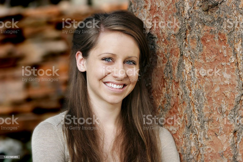 Beautiful, Smiling Young Woman royalty-free stock photo