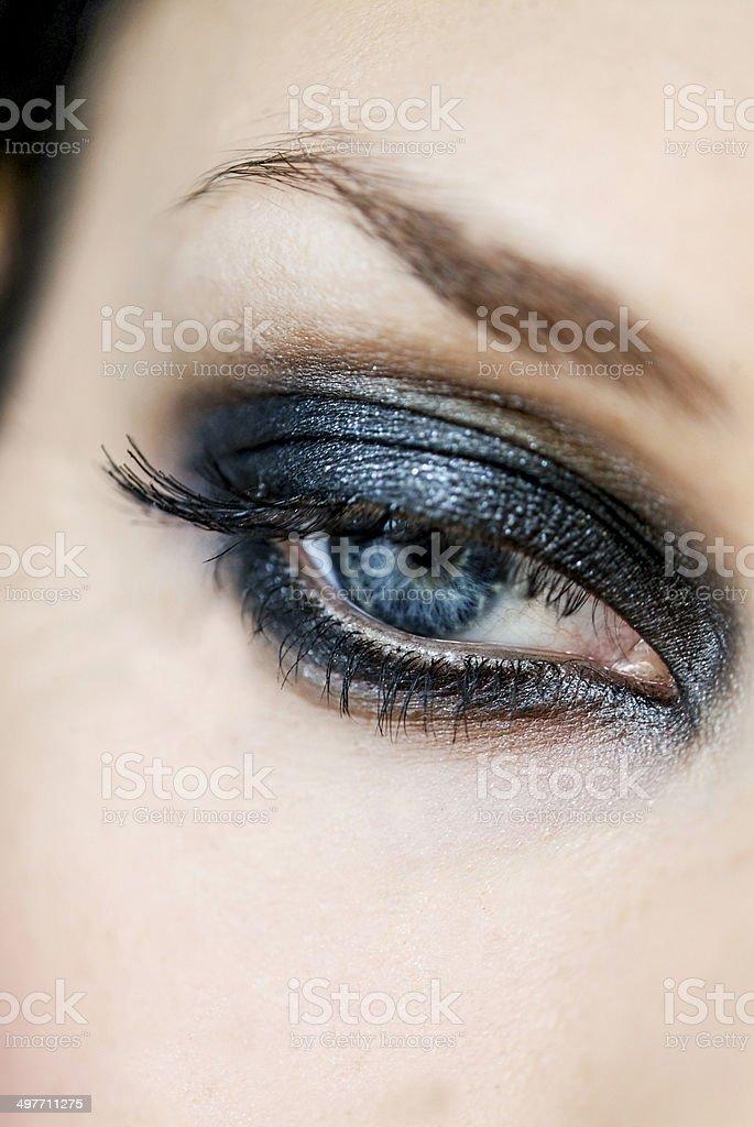 Beautiful smoky eye makup stock photo