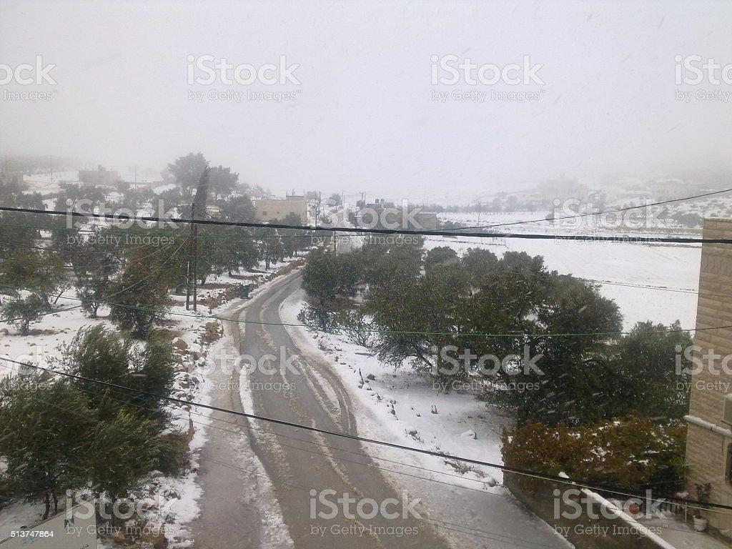beautiful snow stock photo