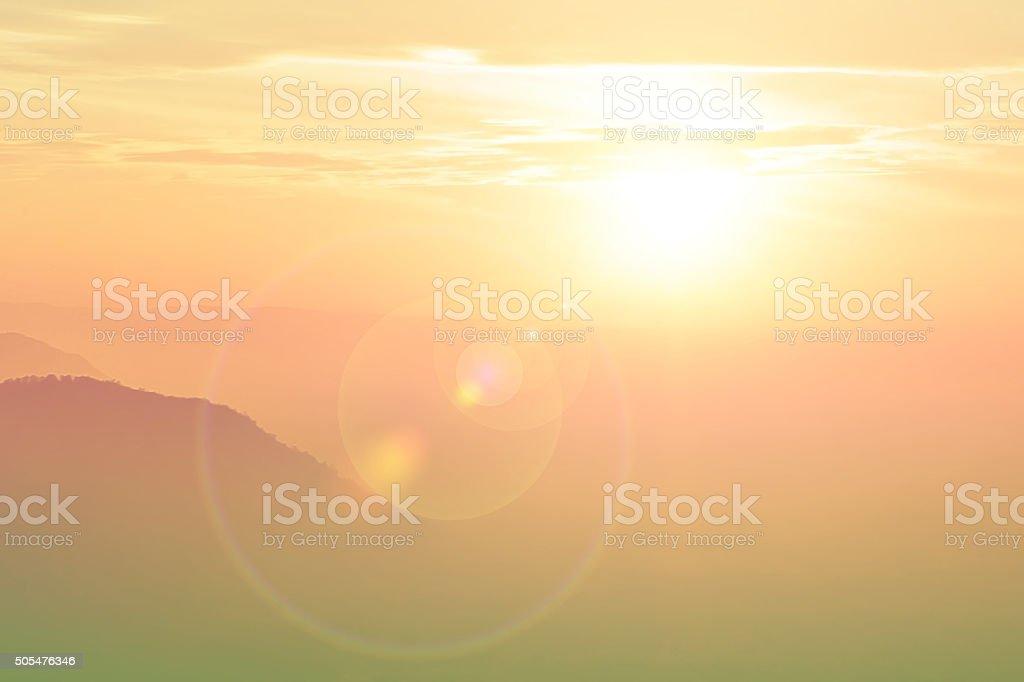 Beautiful soft view fair sun light,sunset,blur stock photo
