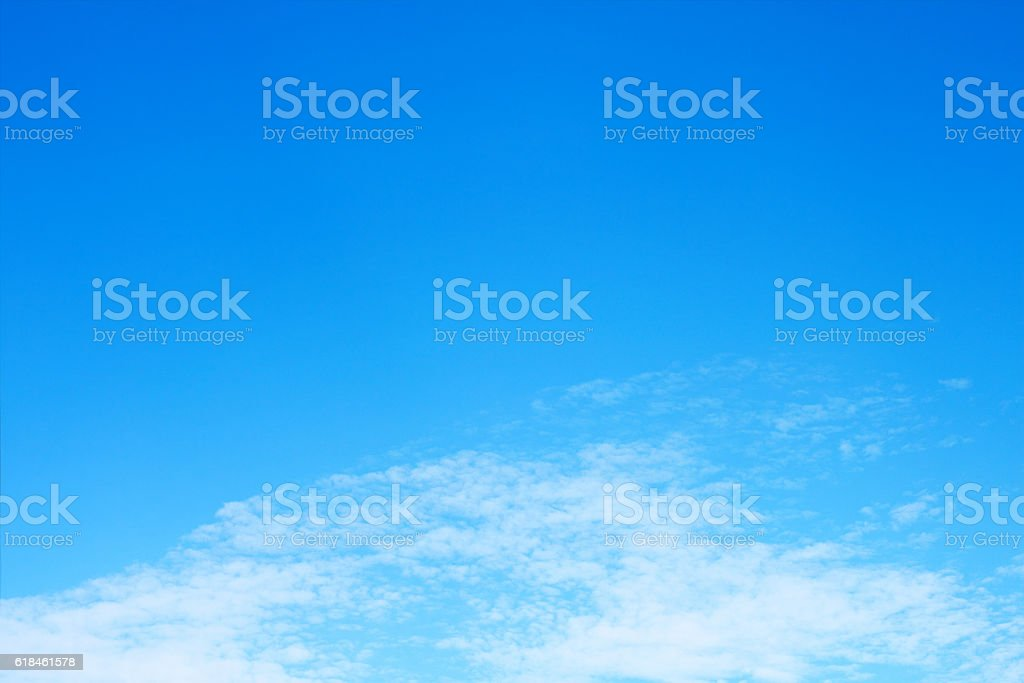 beautiful soft white cloud on blue sky stock photo