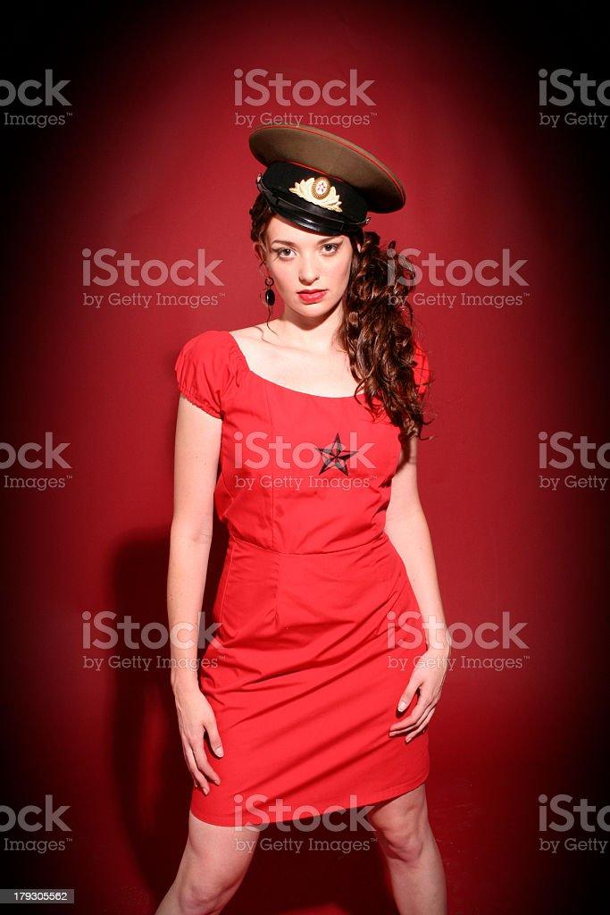 Beautiful Soldier stock photo