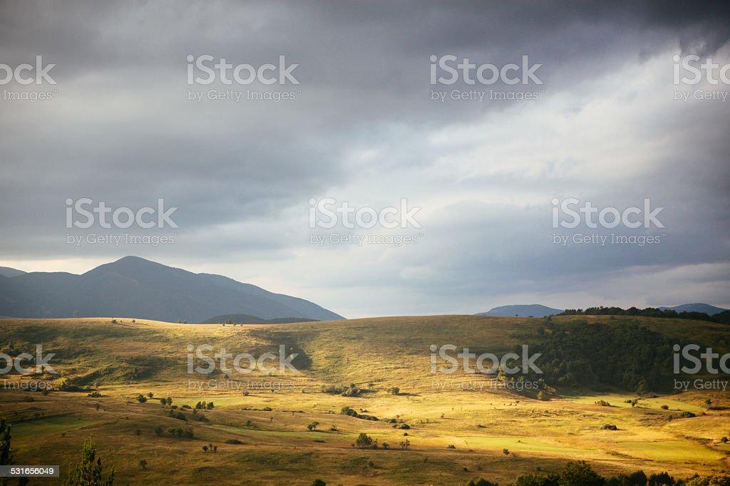 Beautiful South European scenics after the rain stock photo