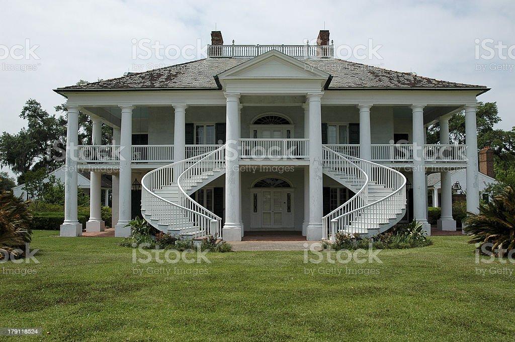 Beautiful Southern Plantation stock photo
