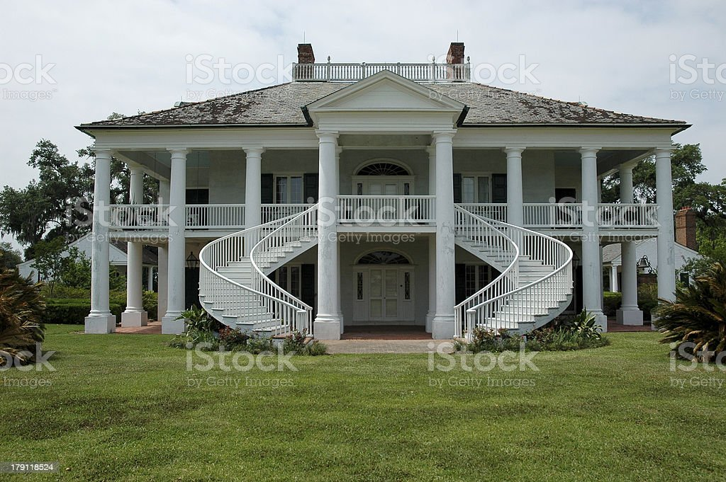 Beautiful Southern Plantation stock photo