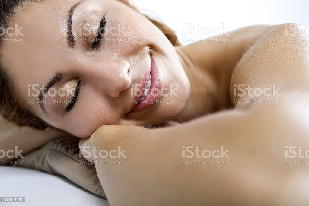 beautiful spa girl concept royalty-free stock photo