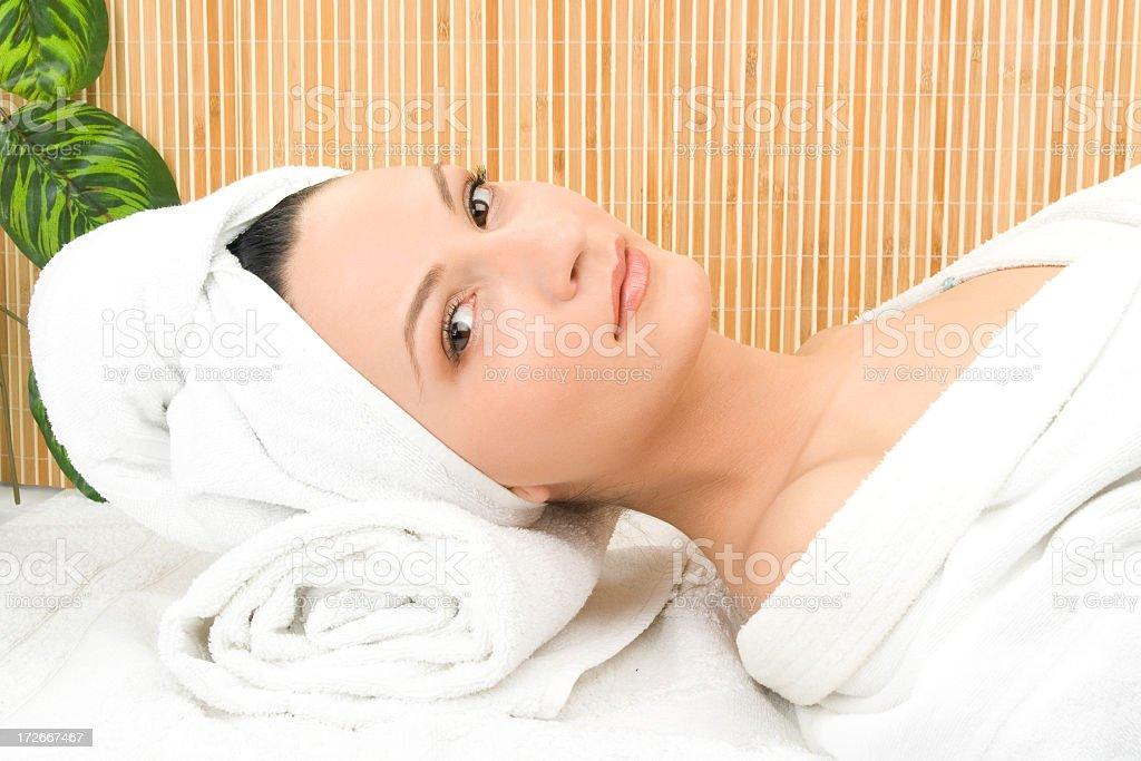 beautiful spa girl royalty-free stock photo