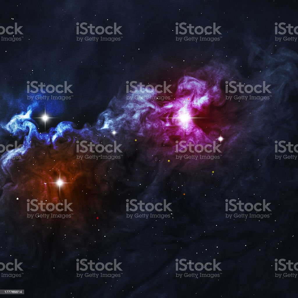 Beautiful space background stock photo