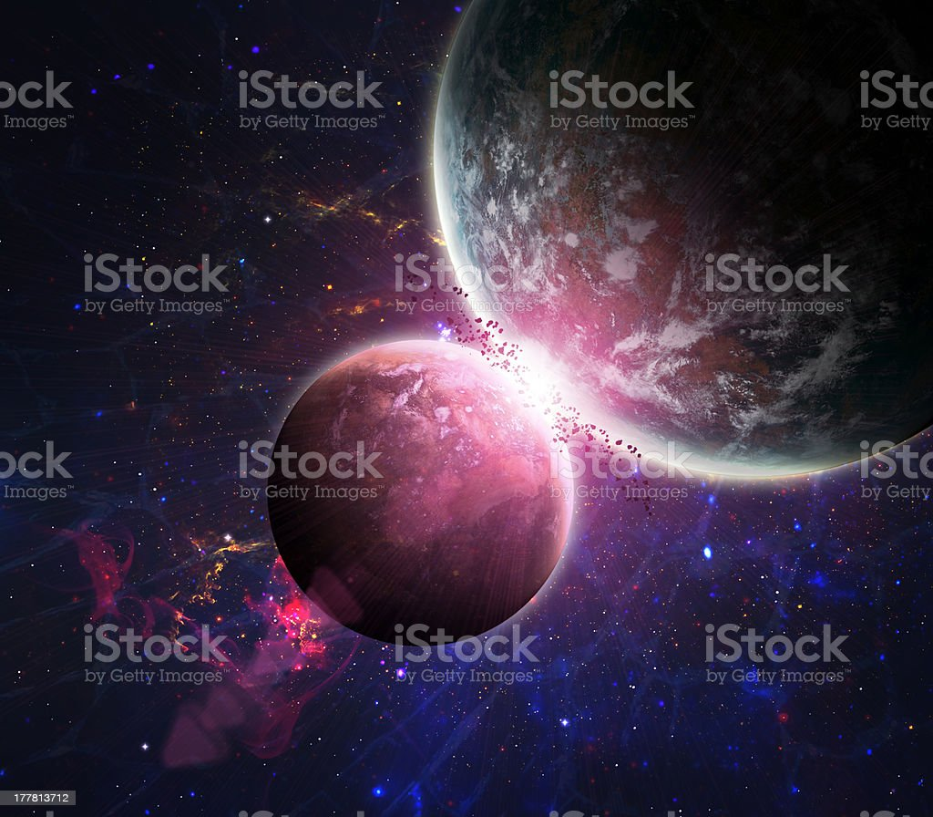 Beautiful space background royalty-free stock photo