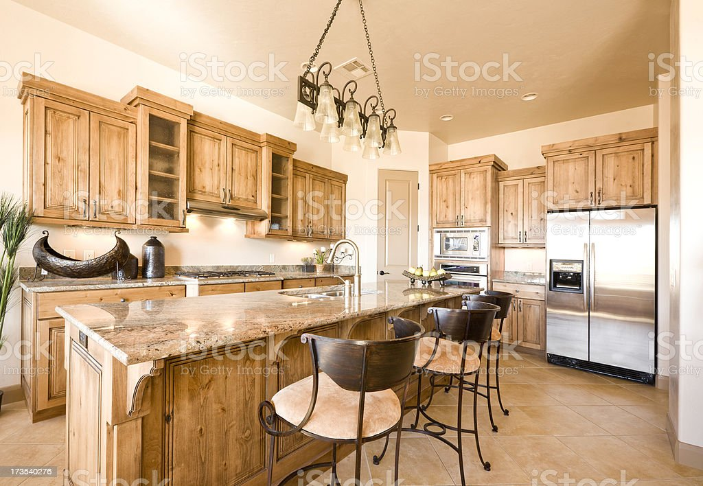 Beautiful Spacious Kitchen royalty-free stock photo