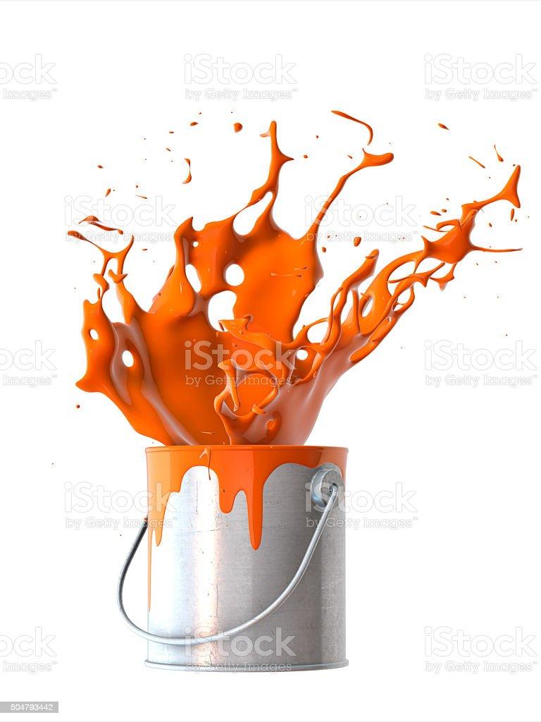 Beautiful splash of paint stock photo
