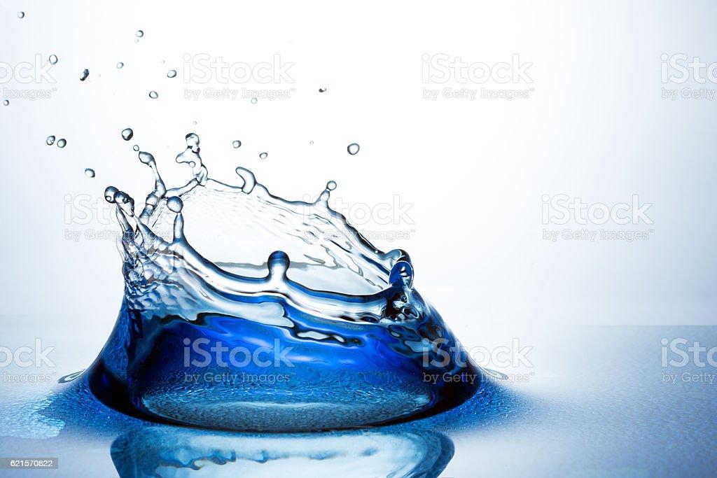 Beautiful splash of water stock photo