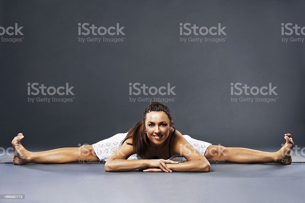 Beautiful sporty woman is working out royalty-free stock photo