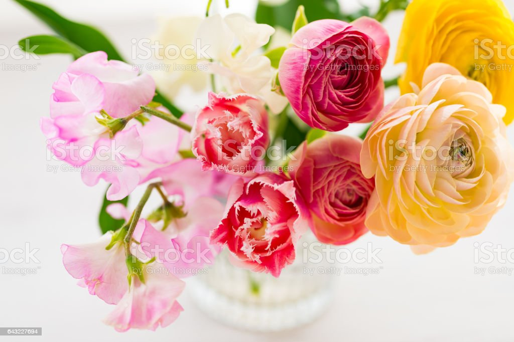 beautiful spring bouquet stock photo
