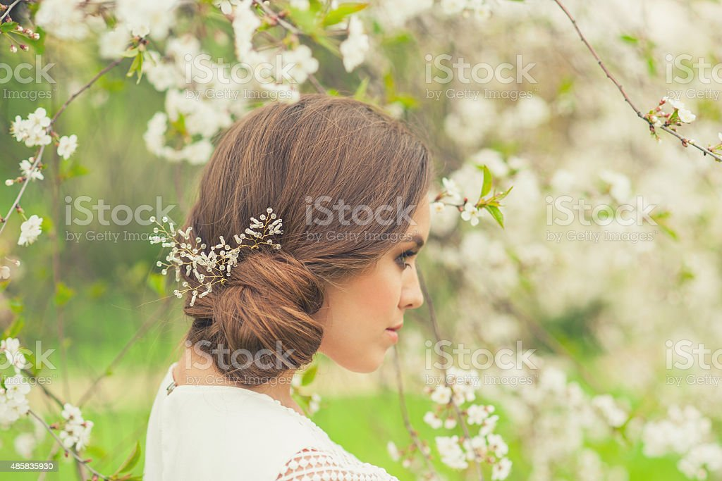 Beautiful Spring Girl stock photo