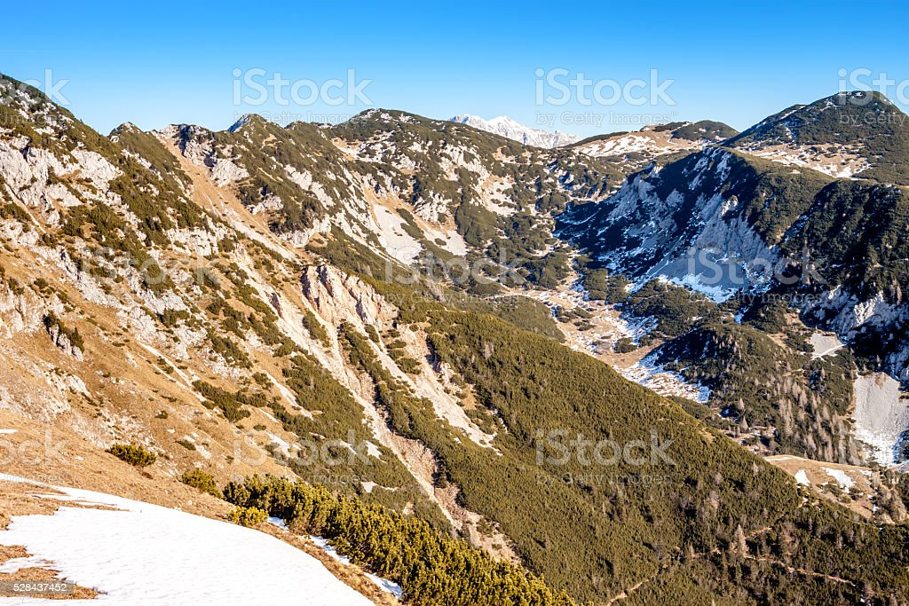 beautiful spring mountain landscape stock photo