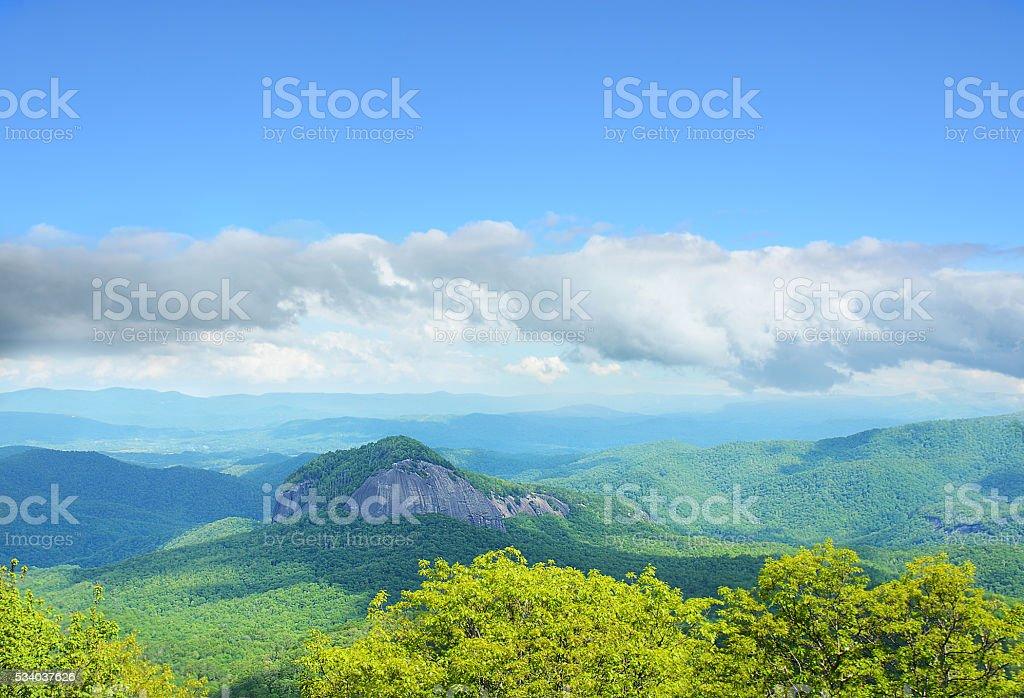 Beautiful spring mountain landscape. stock photo