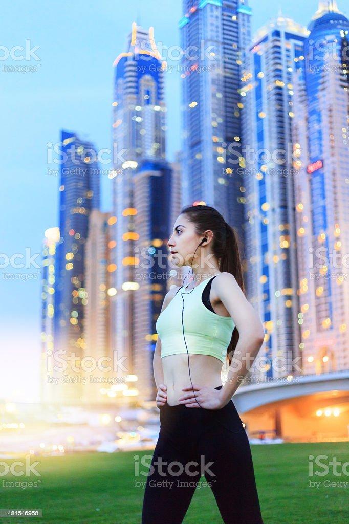 Beautiful Sprinter in Dubai stock photo
