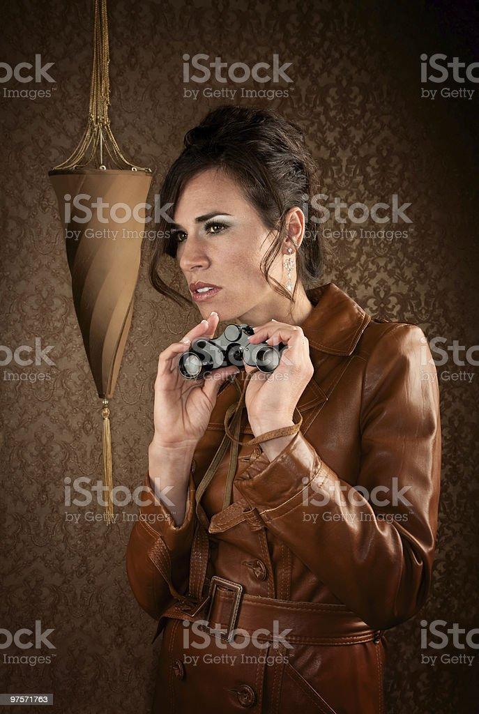 Beautiful Spy royalty-free stock photo