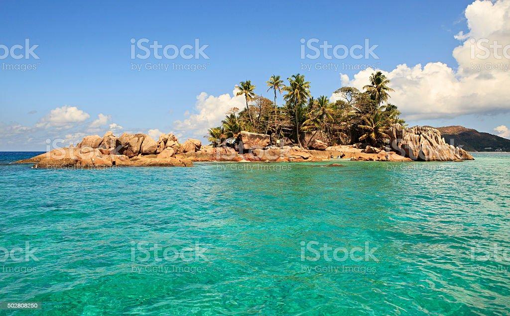 Beautiful St. Pierre Island in Indian Ocean stock photo