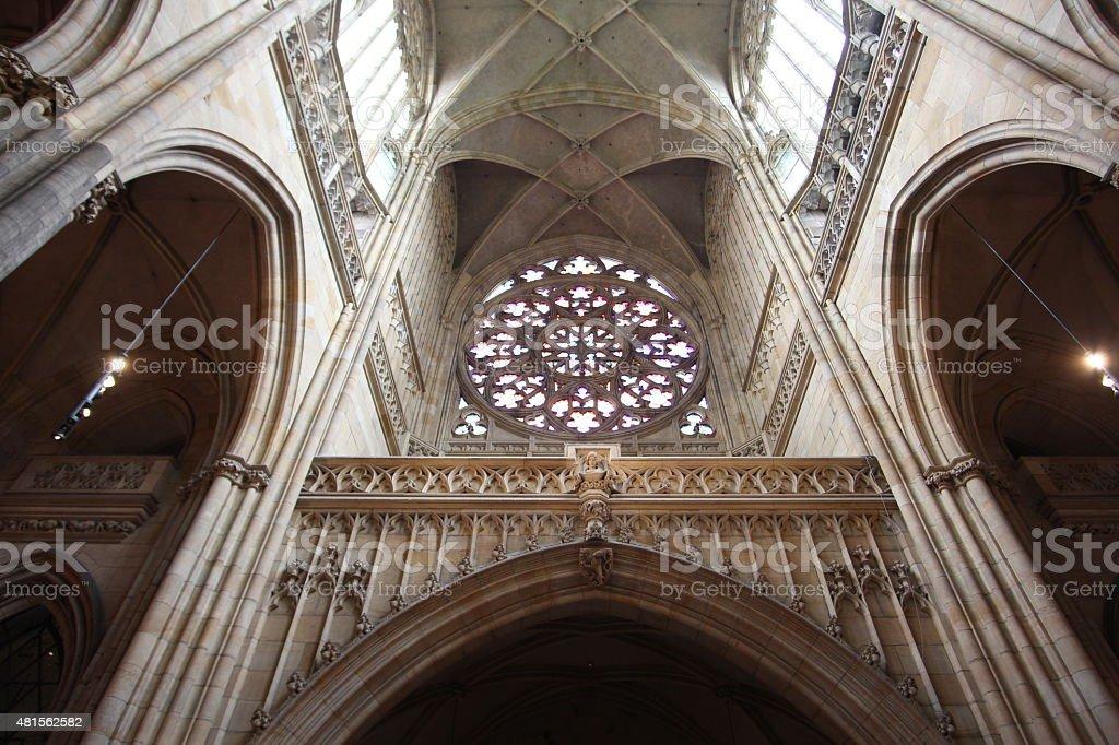 Beautiful St, Vitus Cathedral Interior stock photo