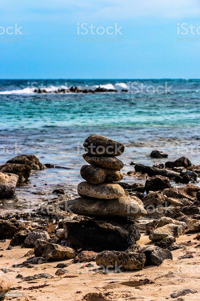 Beautiful stack rocks stock photo