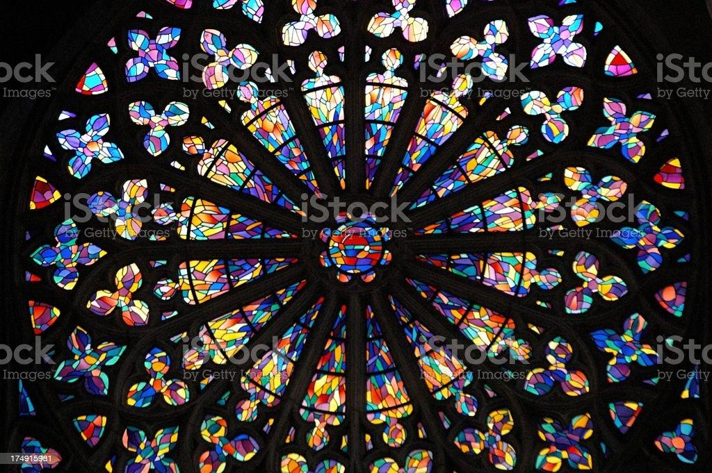 Beautiful stained glass window background stock photo