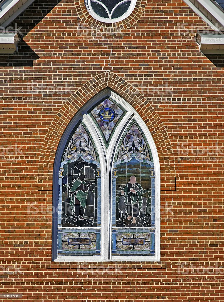 beautiful stained glass window royalty-free stock photo
