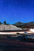 Beautiful stars over Yosemite