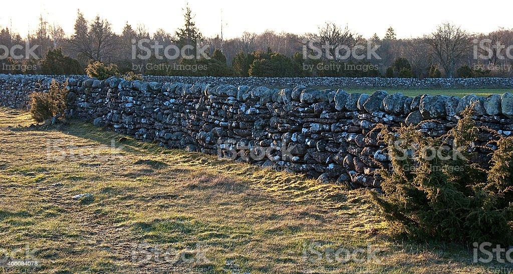 Beautiful stonewalls stock photo