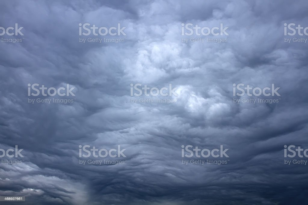 Beautiful storm sky with clouds royalty-free stock photo
