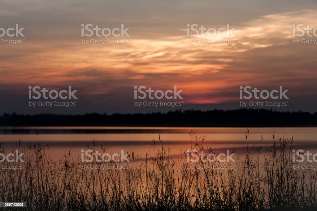Beautiful stormy sunset sky. Cloudy abstract background.early morning...
