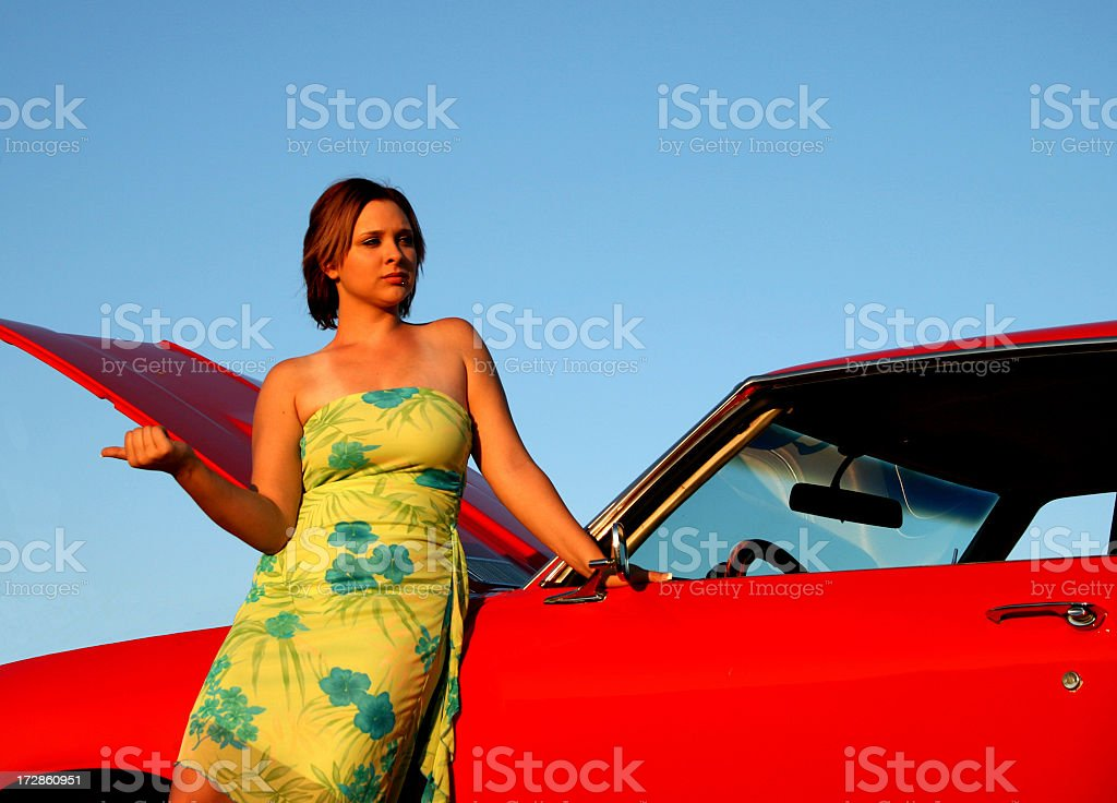Beautiful stranded girl stock photo