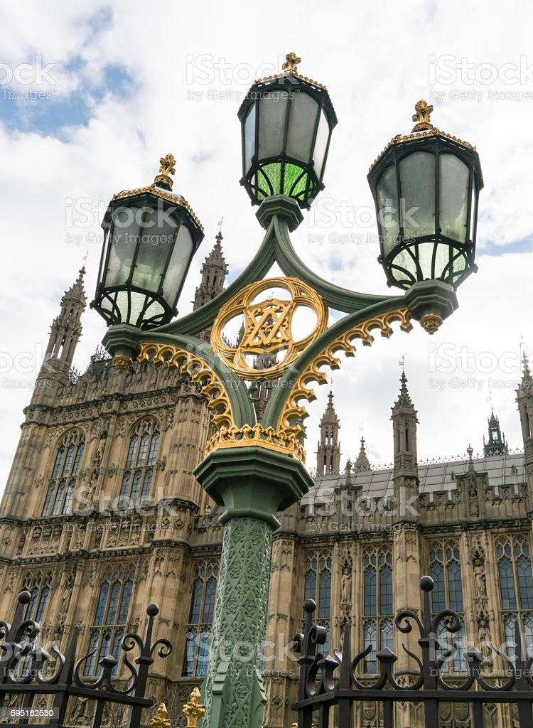 Beautiful street lantern on Westminster Bridge Lizenzfreies stock-foto