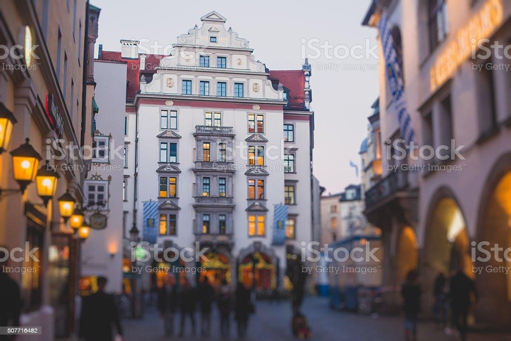 Beautiful street view view of Munich, Bayern, Bavaria stock photo